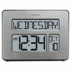 La Crosse Technology C86279 Atomic Full Calendar Clock with Extra Large Digit...