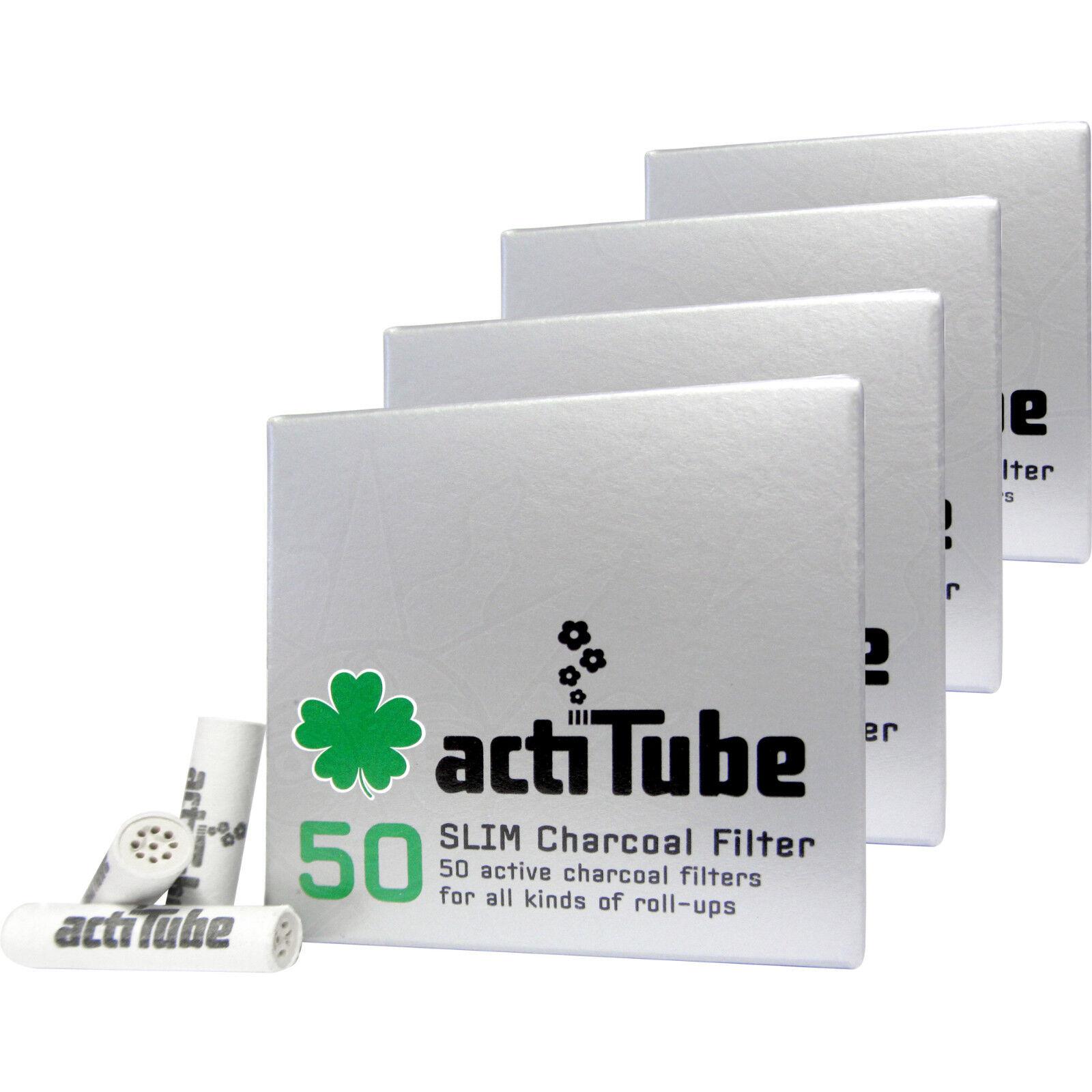 200 actiTube Aktivkohlefilter SLIM 7 mm Filter Aktivkohle Tune (4 x 50)