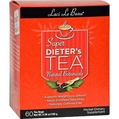 Laci Le Beau Super Dieter's Tea All Natural Botanicals - 60 Tea Bags (150 g) (150g Green Tea)