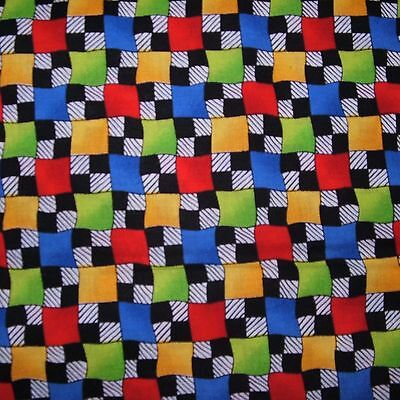 Ткань Checkerboard & Multi-Colored Squares by
