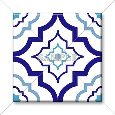 Blue Tile Design - Ceramic Tile - Moroccan Tile Design Blue White Pattern Kitchen Bathroom #17