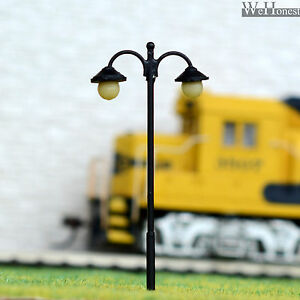 10 pcs HO scale Lampposts LED made Cold Light NO melt Long life #1711