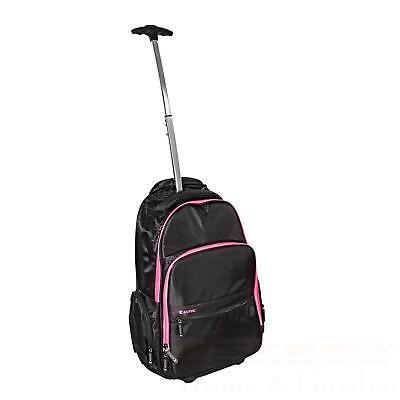 Laptop-trolley (Trolley Rucksack Laptoptasche Schwarz Pink Business Travel Schulrucksack)
