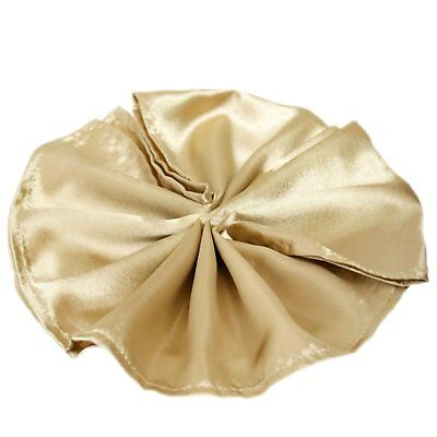 Package of 5 Satin Napkins - Champagne ~Wedding Party Holiday Dinner Catering~ - Holiday Dinner Napkins