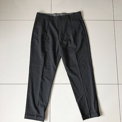 Vince Worsted Wool long-rise grey cuffed trousers. Medium