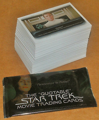 Star Trek Quotable Movies Complete Base Set 90 + Wrapper