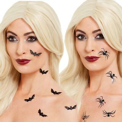 Make Bat Costume Halloween (3D Spider & Bat Stickers FX Make Up  Witch Vampire Halloween Costume Accessory)