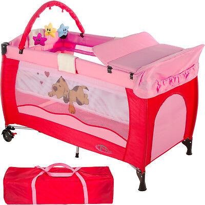 Lit de voyage pliant Lit parapluie avec accessoires Lit bébé PINKY réglable