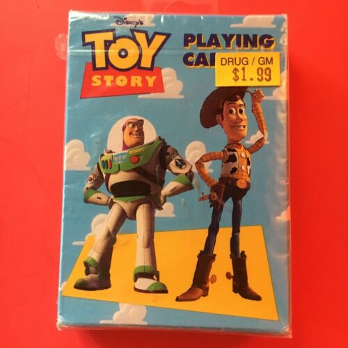 original TOY STORY playing cards - VINTAGE 1995 - disney - made USA - sealed NEW
