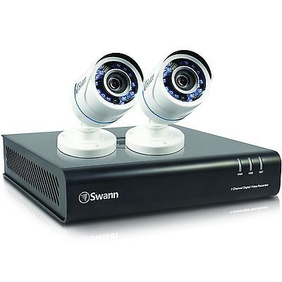 New Swann SWDVK-445002P-US 4 Channel 1080p Security System & 2x 1080p Cameras