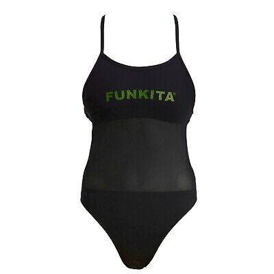 Funkita Badeanzug Damen Night Lights Mesh Up Schwimmanzug - Light Up Anzug