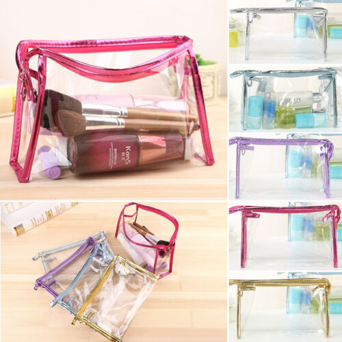 clear toiletry cosmetic transparent pvc bags travel