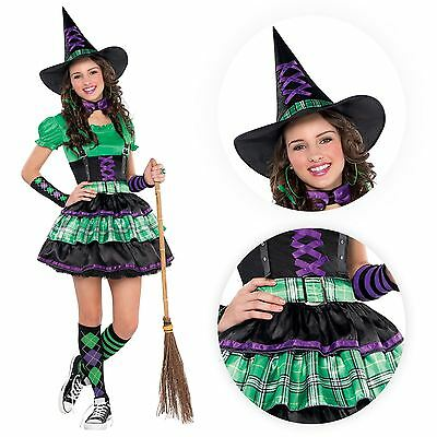 Kids Wicked Cool Witch Girls Halloween Party Fancy Dress Teen Costume Outfit NEW - Cool Girl Costumes Halloween