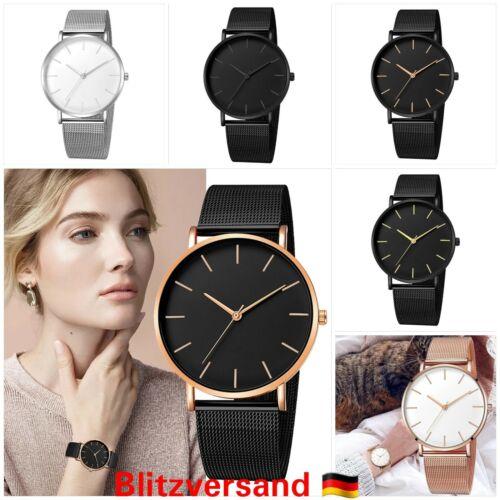 Damen Uhr Herrenuhr Armbanduhr Analog Edelstahl Quarz Chronograph Uhr Unisex