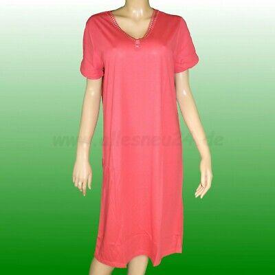 Damen Sleepshirt Nachthemd mit 1/4 Arm Modal (Gr. 38 & 40) von Graziella in rot - Rote Damen Nachthemd