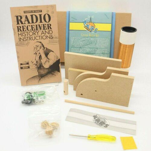 Vintage 1998 Restoration Hardware Mars Crystal Radio DIY Kit Made in England