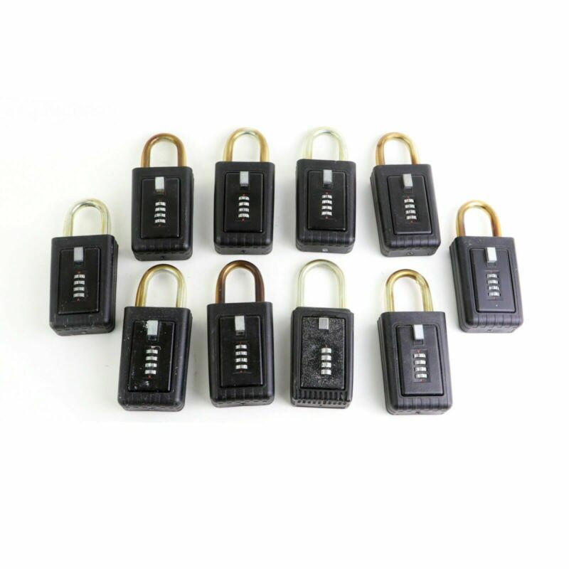 10 Lockbox (Same code) for Key Storage. Realtor Real Estate 4 Digit Lock box