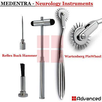 Medical Diagnostic Instruments Neurological Reflex Buck Hammer T-shape Pin Wheel