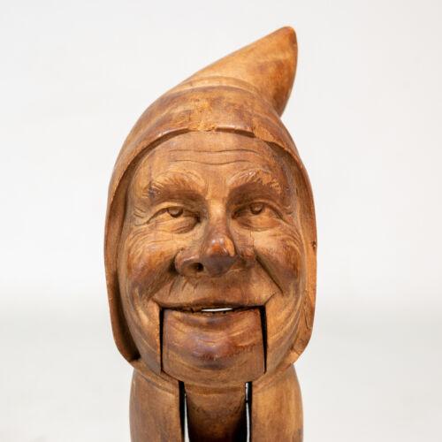 Stunning Vintage German Black Forrest Hand Carved Wooden Nutcracker Old Man
