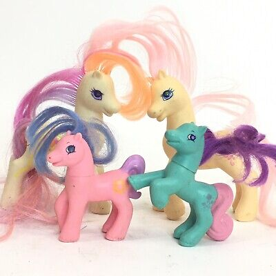 MLP G2 Vintage Assorted 1997 1998 My Little Pony Lot Set Of 4 Two Big Two Small