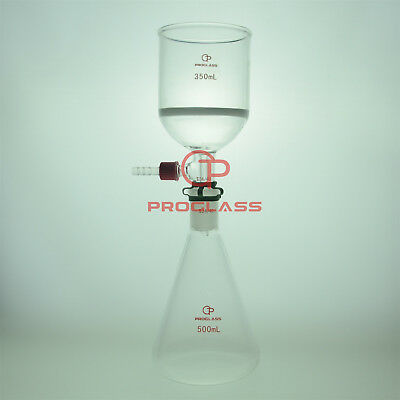 Proglass Filtering Buchner Set 500ml Erlenmeyer Flask Plus The 350ml Funnel