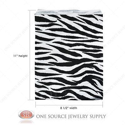 1000 Zebra Print Paper Bags Gift Bags Merchandise Bags 8 12 X 11 Retail Bags