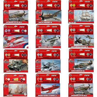 Airfix - Starter Model Sets Kits - 1:72 / 1:76 - Aircraft Tanks Ships Jeeps