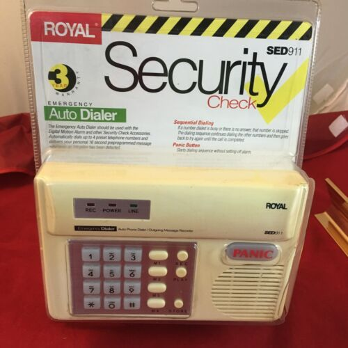 Senior Emergency Phone Dialer Security Check Panic Button Recorder Royal SED9110