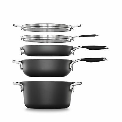 Select By Calphalon SpaceSaving Hard-Anodized Nonstick 7-Piece Starter Cookware