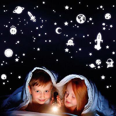 all Sterne Universum Weltraum nachtleuchtend Fluoreszierend  (Aufkleber-welt)