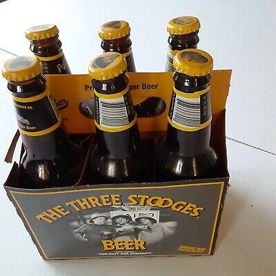3 Three Stooges EMPTY Beer Six Pack Bottles