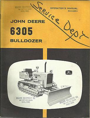 John Deere 6305 Bulldozer Operators Manual