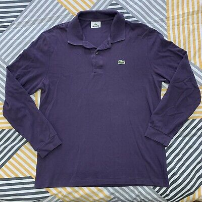 Lacoste Long Sleeve Polo Top. Authentic. Size Medium