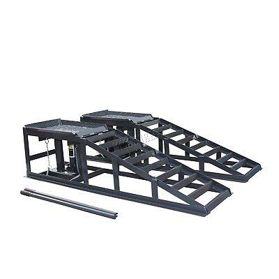 Switzer Vehicle Car Ramp - Lift 2 Ton Hydraulic Jack Garage Heavy Duty Grey x 2
