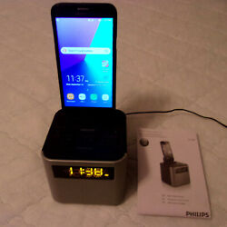 Philips AJT 3300 Bluetooth Alarm Clock Radio Iphone/ Android Speaker Dock