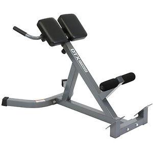 Dtx Fitness Back Hyper Extension Exercise Bench