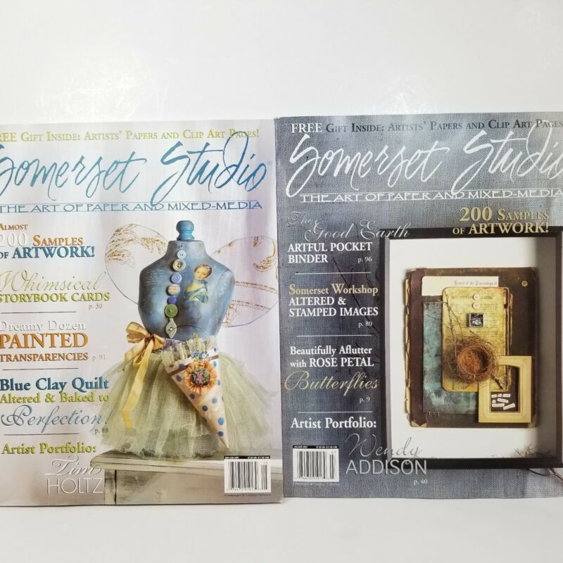 2007 Stampington & Company Somerset Studio Magazines Paper Art Mixed Media