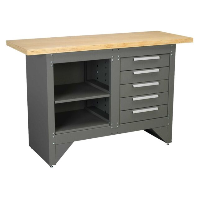 Sealey Heavy-Duty Garage Workbench With 5 Drawers/Ball Bearing Runners- AP2030BB