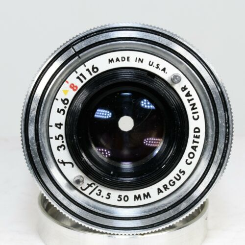 Argus 50mm f/3.5 Coated Cintar Manual Focus Prime Lens | Excellent Condition