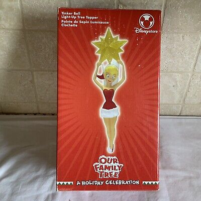 Disney Store Our Family Tree a Holiday Celebration Tinker Bell Lt Up Tree Topper