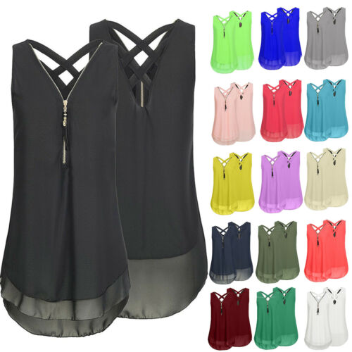 Damen Sommer Oberteile Chiffon Longshirt T Shirt Tunika Tops Longbluse Sexytops