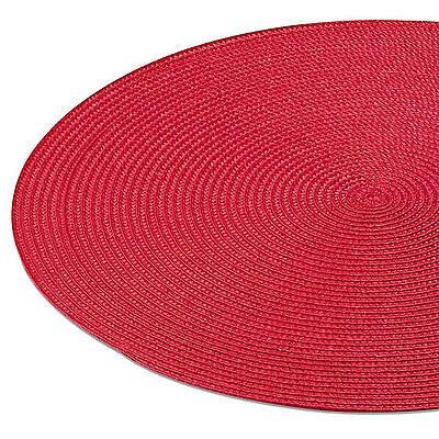 Tischset DOT Platzmatte ROT rund ca. 38 cm ø Polypropylen - klares Kirschrot neu