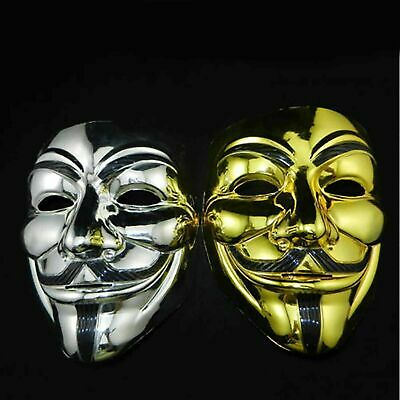 Funny Halloween Costumes 2 Guys (2x Funny V Vendetta Guy Fawkes Mask Anonymous Halloween Cosplay Costume Mask)