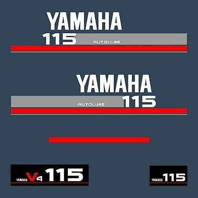 1 Kit Pegatinas Yamaha 115Cv V4 Serie 9 - Adhesivos Tapa Motor...