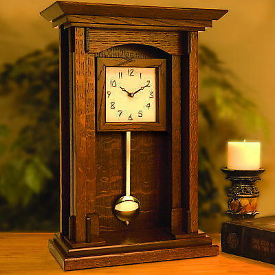 Woodworking Project Paper Plan to Build Arts and Crafts Pendulum Clock (Paper Clock Craft)
