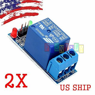 2pcs 1 Channel Dc 5v Relay Switch Board Module For Arduino Raspberry Pi Arm Avr