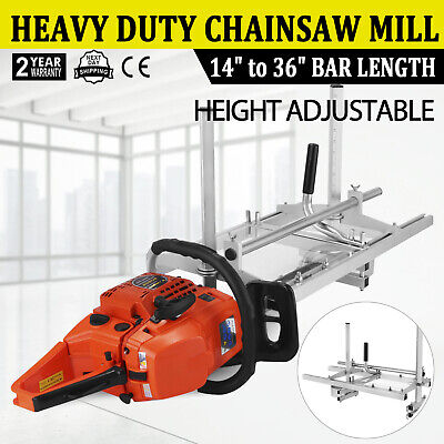 Portable Chainsaw Mill 36 Inch Planking Milling 14 To 36 Guide Bar