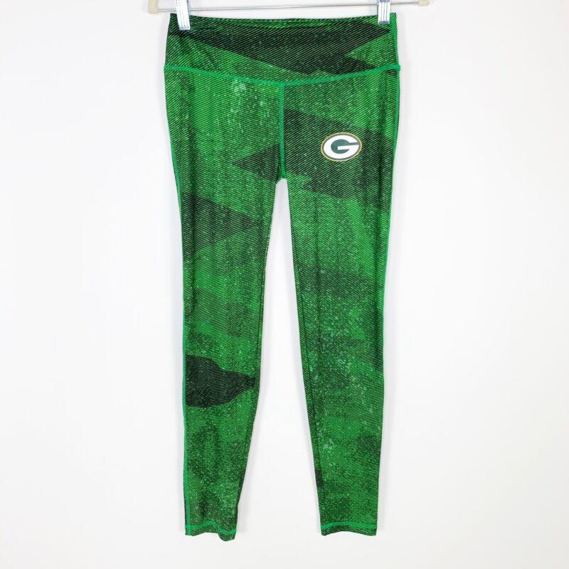 NFL Green Bay Packers Dynamic Effort Majestic Yoga Leggings Size XS