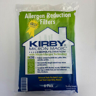 - 6 Style F Premium HEPA Filtration Vacuum Bags Replacement for Kirby Sentria