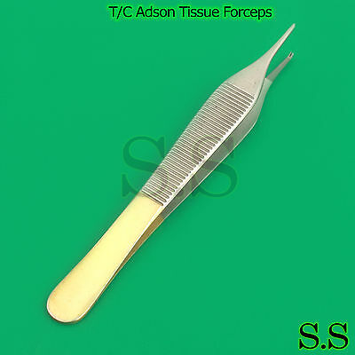 Tc Adson Tissue Forceps 6 1x2 Rat Tooth Configuration Surgical Dental Vet.